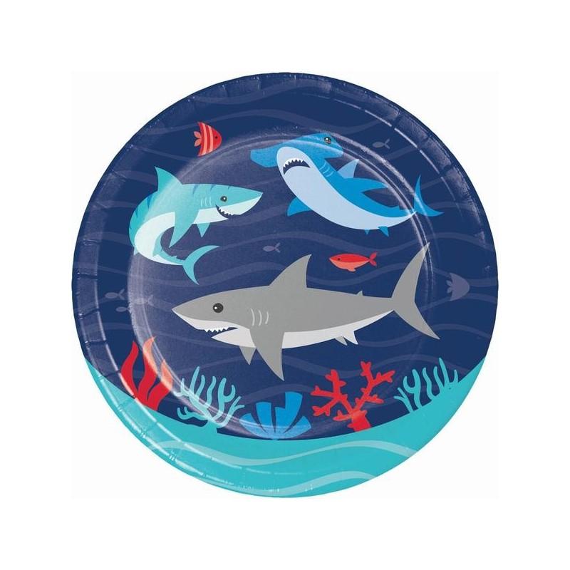 8 Assiettes Petits Requins