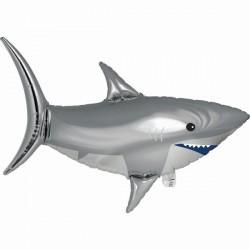 Ballon 3D requin en aluminium