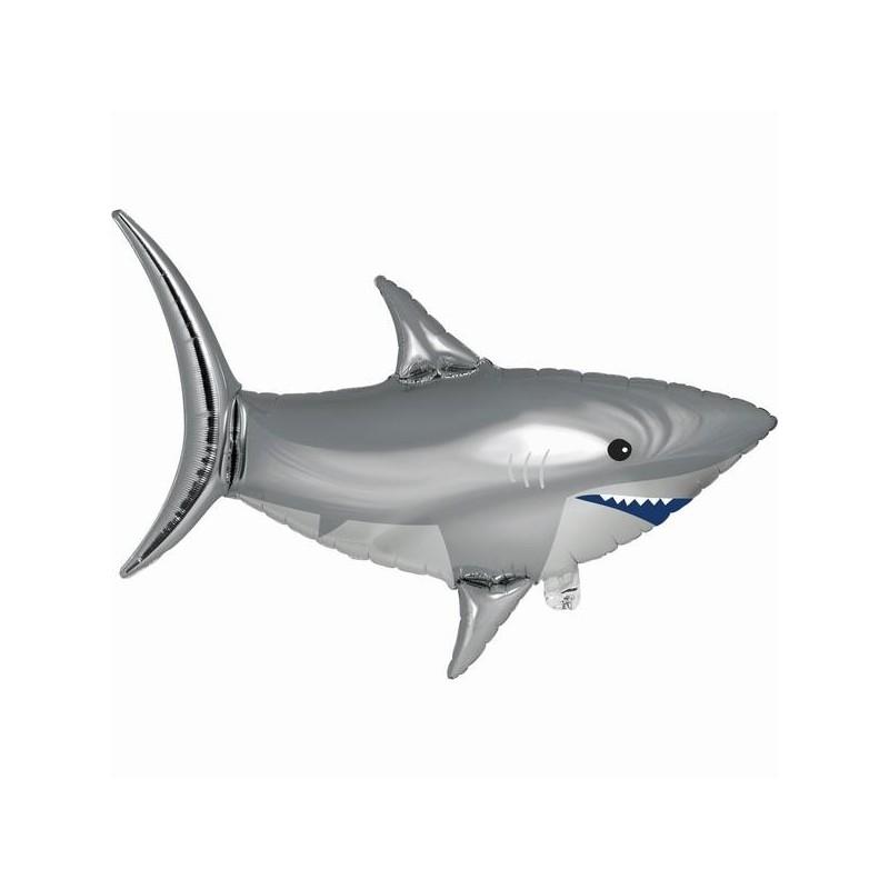 3D balloon shark metallic