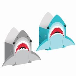 8 Leckerli-Tüten in Haifischform