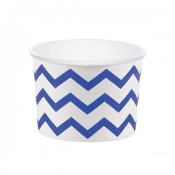 Pots à glace bleu et blanc