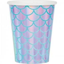 Cups Mermaid iridescent-turquoise