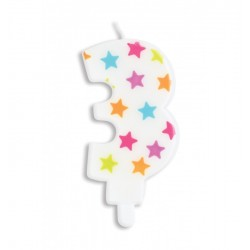 Candle with stars -3