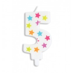 Candle with stars -5