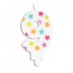 Candle with stars -9