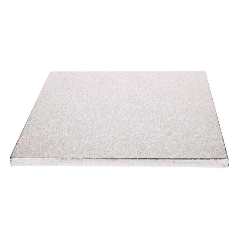 Plateau carré 17.5 cm - 12 mm,plateau carré, plateau à gâteau carré, plateau à gâteau épais, plateau carré épais