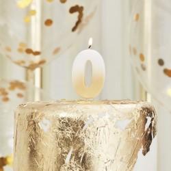 Weiß und Gold Kerze -0