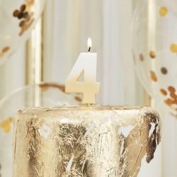 Weiß und Gold Kerze -4
