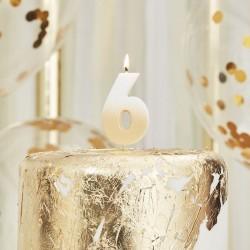 Weiß und Gold Kerze -6