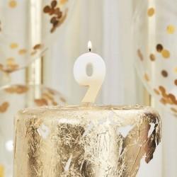 Weiß und Gold Kerze -9