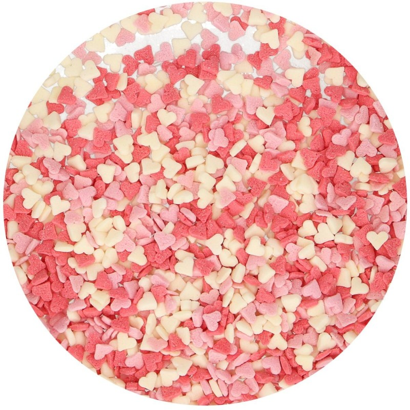 Mini Hearts Pink/White/Red - 60g