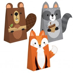 8 Woodland Party Bags