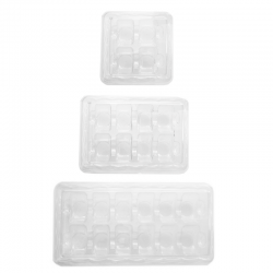 Transparent boxes for 4 , 8 or 12 macaroons
