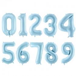 Blue balloon set number