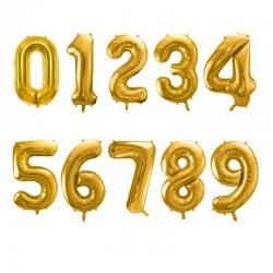 Set de ballon chiffre doré