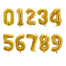Ballon-Set Goldene Zahl