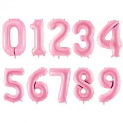Set ballons roses chiffre