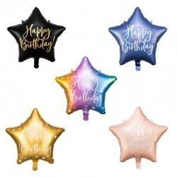 Set ballon étoiles  Happy Birthday