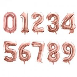Satz großer rosa-goldener Luftballons