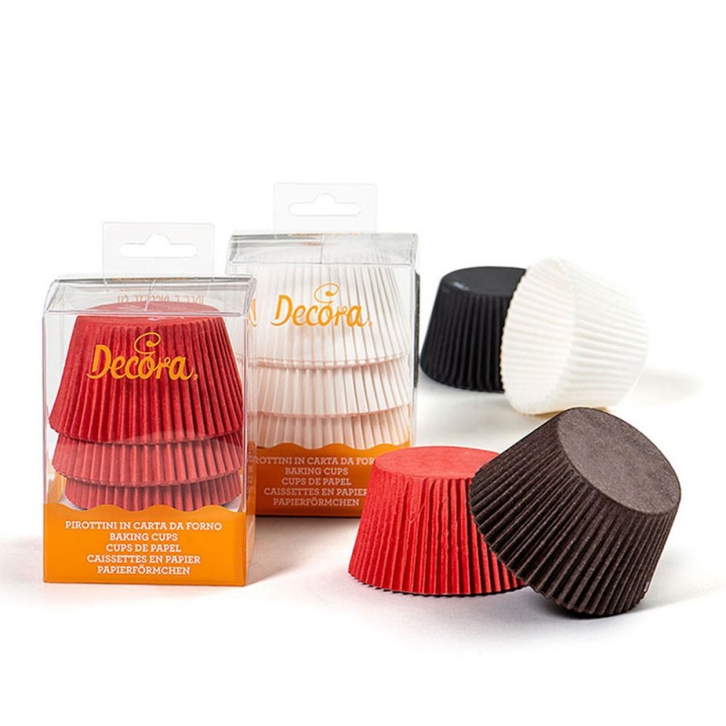 Red, black, white and brown maxi cupcake boxes