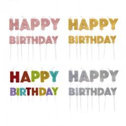 Bougies Happy Birthday  set