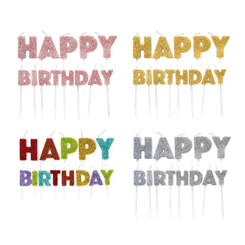 Candles Happy Birthday  set