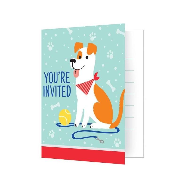 8 Invitation cards Dog