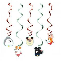 5 Swirl decorations Dog