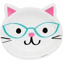 "Plates ""Cat's head"" white"