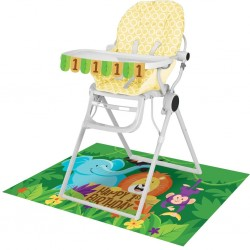 "Safari"" high chair decoration kit with chair"