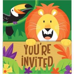 """Cartes d'invitation""""Safari"""""""