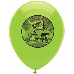6 Ballons Happy Birthday Safari