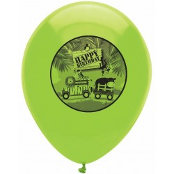 6 Balloons Happy Birthday Safari