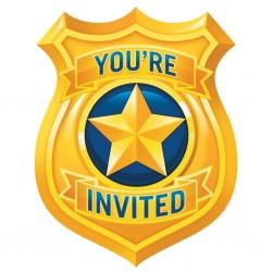 "Police"" invitation card"