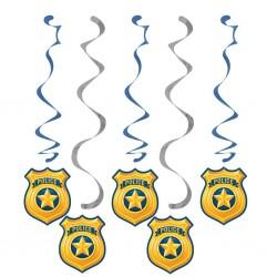 """Police"""" spiral garlands"""