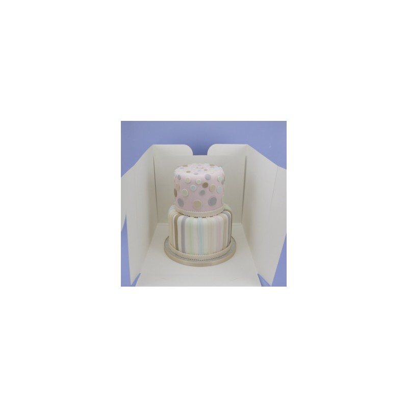 Boîte à gâteau de 23x23cm sur 20cm de haut