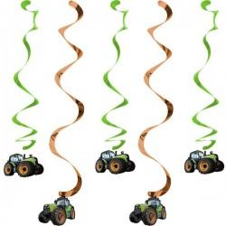 5 Spirales décoratives Tracteur