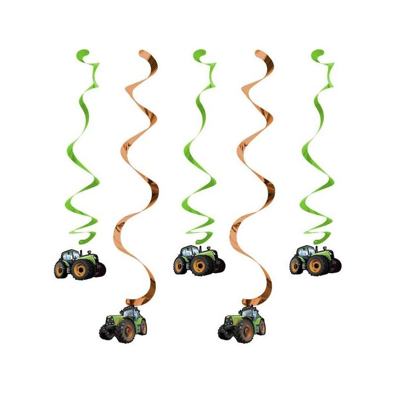 5 Swirl decorations Tractor