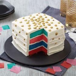 Square Cake Pan Easy Layers 15cm - Set/4