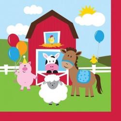 Napkins Farm animals