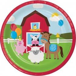 Plates Farm animals