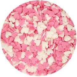 """""""Hearts Pink-White"""" Sprinkles - 60g"""