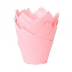 Caissettes tulipe Rose clair