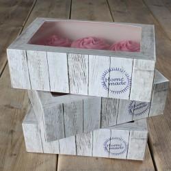 """Boite à cupcakes """"Pure"""" 24x16x8cm + insert - 3pcs"""