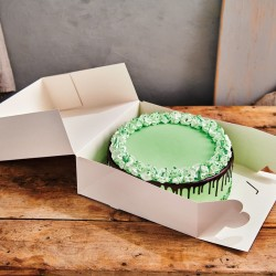 Boîte à Gâteau blanche 32 x 32 x 11,5cm - pk/2