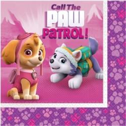 Servietten rosa Paw Patrol