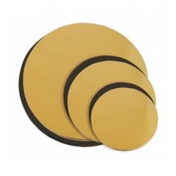 6 plateaux ronds réversibles doré et noir