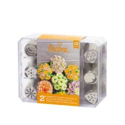 Coffret douilles à fleurs 3D