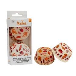 Cupcakes Förmchen Blätter aus Papier