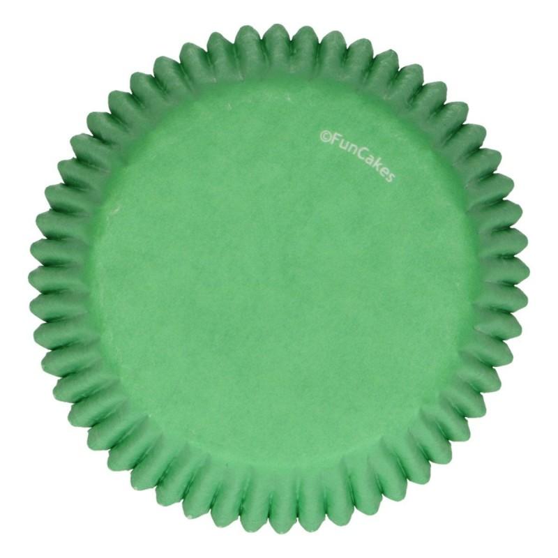 Baking cups Green pk 48